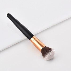 Image 3 - Profesyonel 10 tipi yumuşak makyaj fırçaları Kabuki fırça karıştırma tozu fondoten allık makyaj fırça göz farı kozmetik aracı