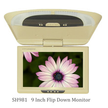 9 inch bus/car/taxi TFT LCD roof Mounting AV Monitor for DC 36V dual video inputs Beige color   SH981