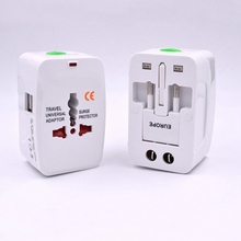 Universal International Plug Adapter  USB Port World Travel AC Power Charger Adaptor With AU US UK EU Converter Plug