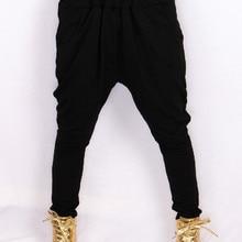 52f4b491a339c Pantalones de chándal informales mujer verano Hip Hop mujer Harem pantalones  holgados algodón flaco negro danza estiramiento Pan.