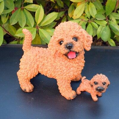 Creative belle noir et blanc en peluche tirage au sort simulation chien modèle pet shop décoration ouverture des cadeaux de résine sculpture joyeux