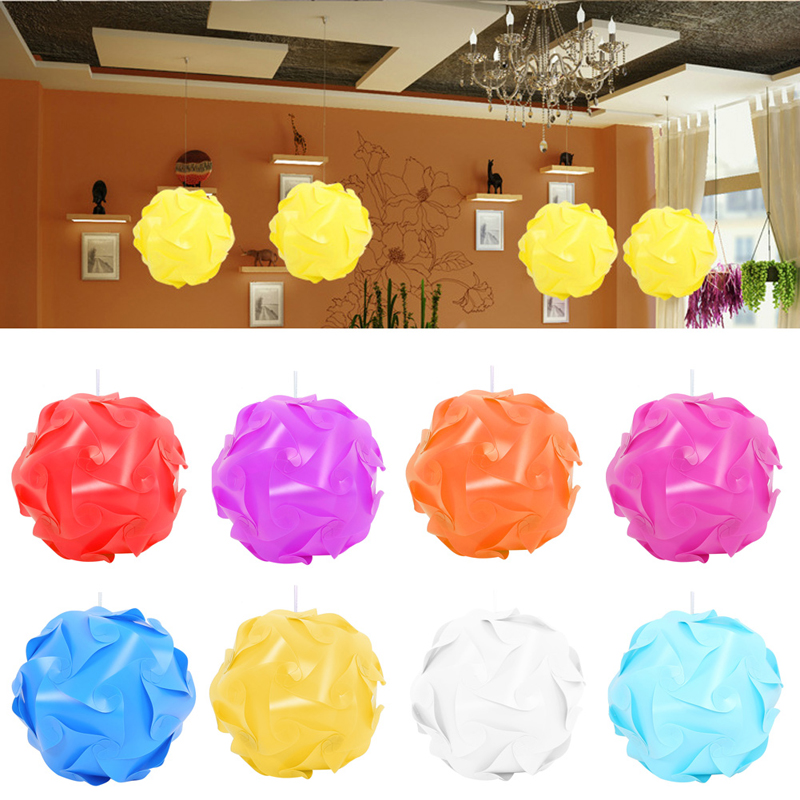 30Pcs Modern IQ Puzzle Jigsaw Light Lamp Shade Ceiling Lampshade Creative DIY #K4U3X#