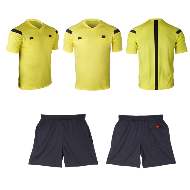 Referee Jersey Soccer Set 2017 Football Judge uniform Futbol Shirt Suit Tracksuits survetement football maillot de foot 3