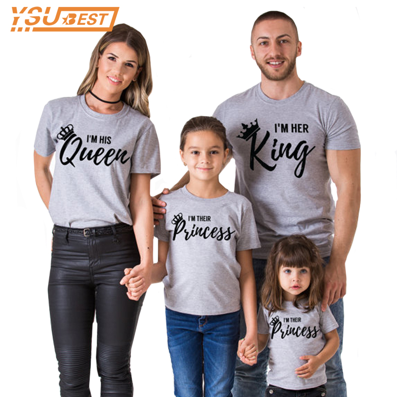 Family Matching Clothes 2017 Summer New Fashion Father Son Matching Clothes King Queen Family Look font