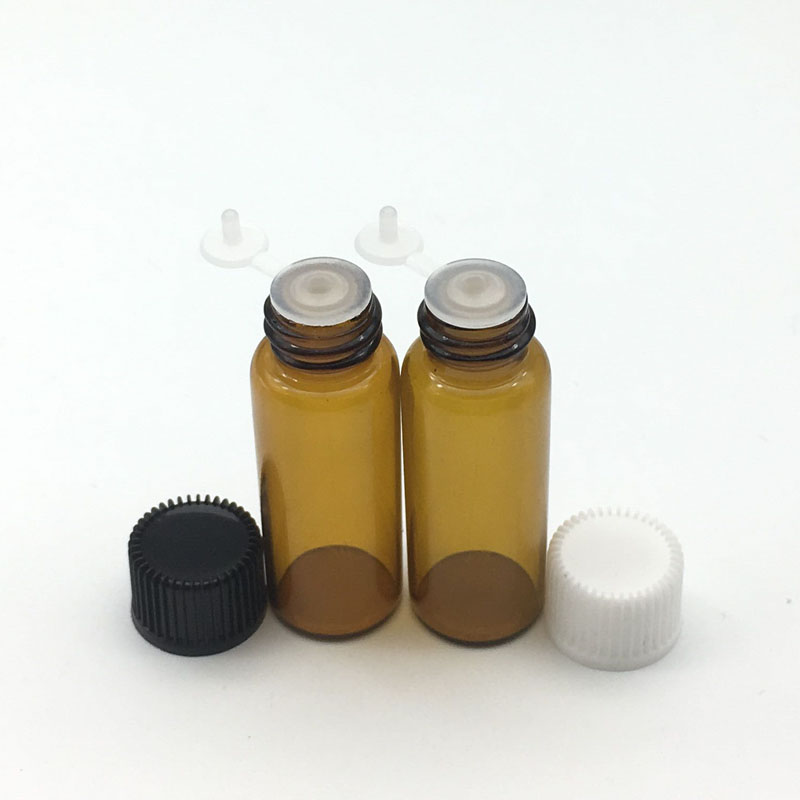 Back To Search Resultshome & Garden 5pcs 5ml Amber Glass Bottle With Orifice Reducer Siamese Plug Screw Cap Small Essential Oil Sample 5ml Vials Storage Bottles & Jars