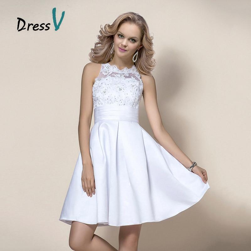 Stunning Short Beading Liques Satin Wedding Dress Beaded Lace Top Sleeveless Bridal Party Dresses Vestidos De Noiva In From Weddings
