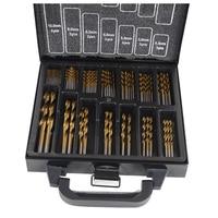 THGS Professional Tool HSS Titanium Drill Bit Set 99Pcs Bits In Metal Storage Case