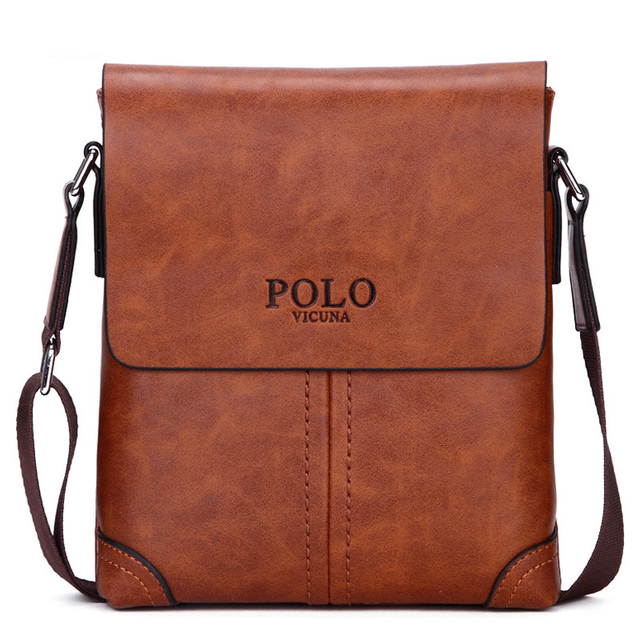 2018 Polo Men Leather Shoulder Bag Gentle Business Handbags Contract Bags Messenger Classical