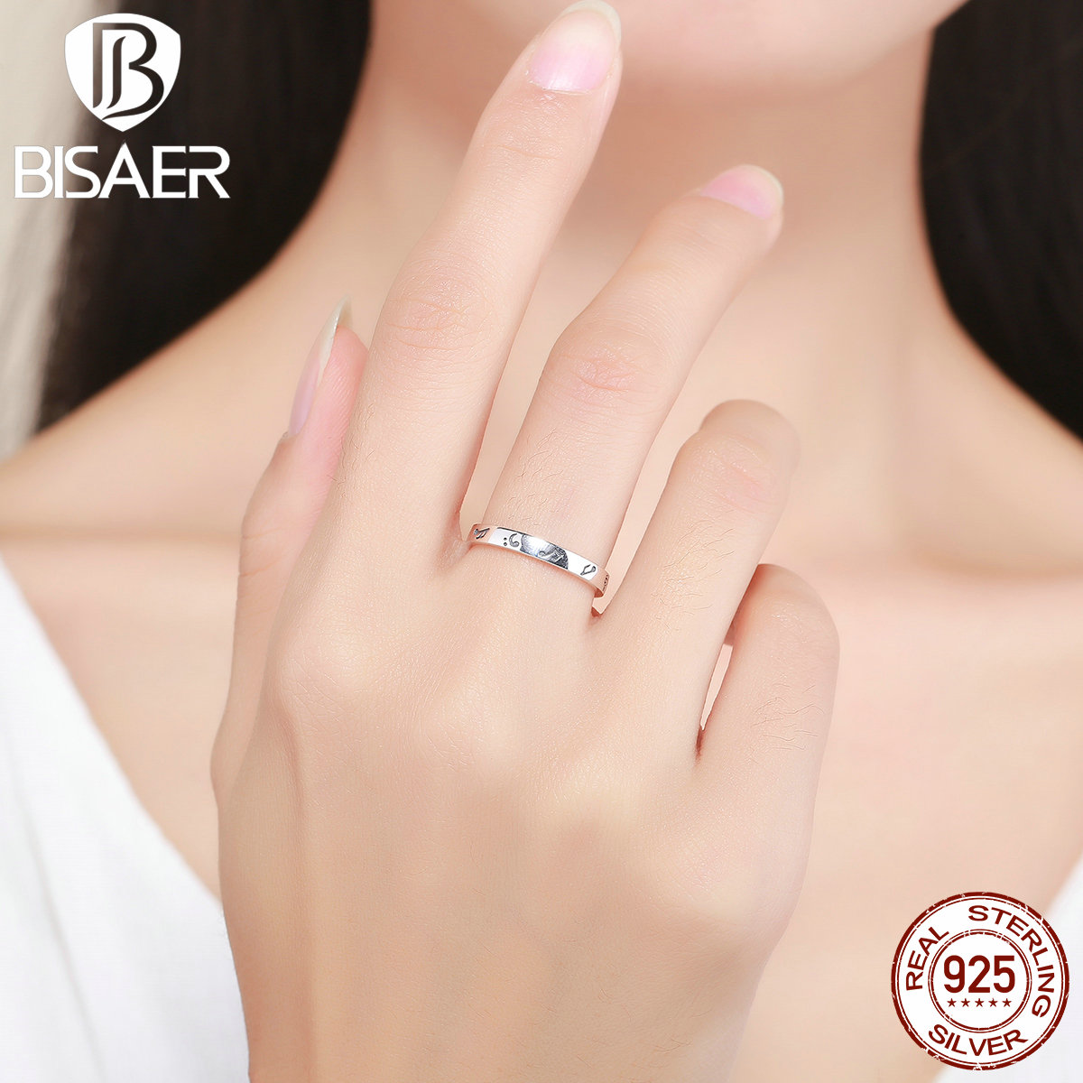 Vintage 100% 925 Sterling Silver Romantic Music Note Ladies Finger Rings for Women Engagement Ring Jewelry S925 Gift