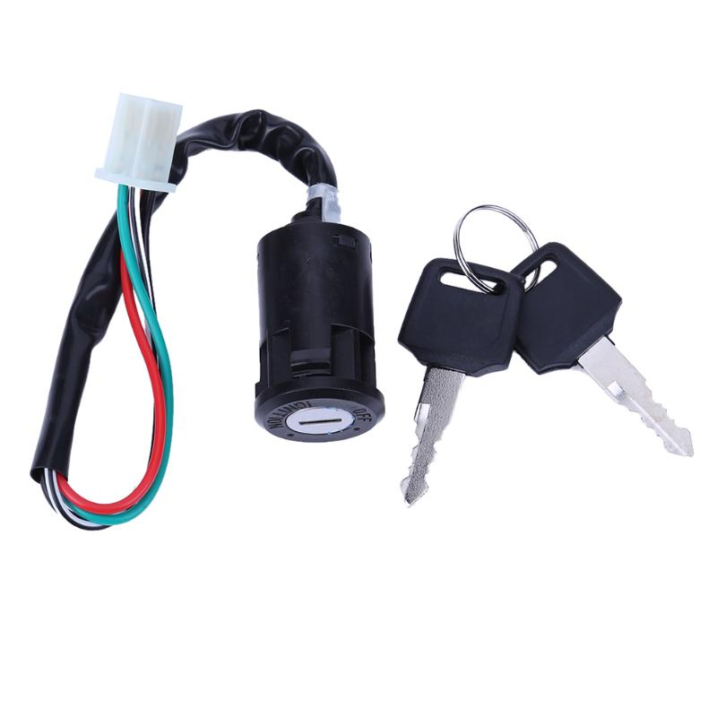 VODOOL Motorcycle ATV Key Ignition Switch 4 Wires Lock 50 70 90 110 125 150 200 CC High Quality Car <font><b>Accessories</b></font> Ignition Switch image
