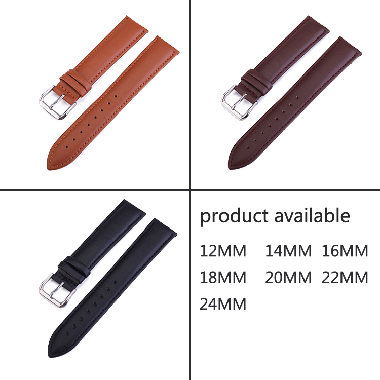 Real Leather Watchband Black Brown Smooth women Watch Band for dw watch 12 14 16 18 20 22 24mm Men's Genuine Leather Straps Belt все цены
