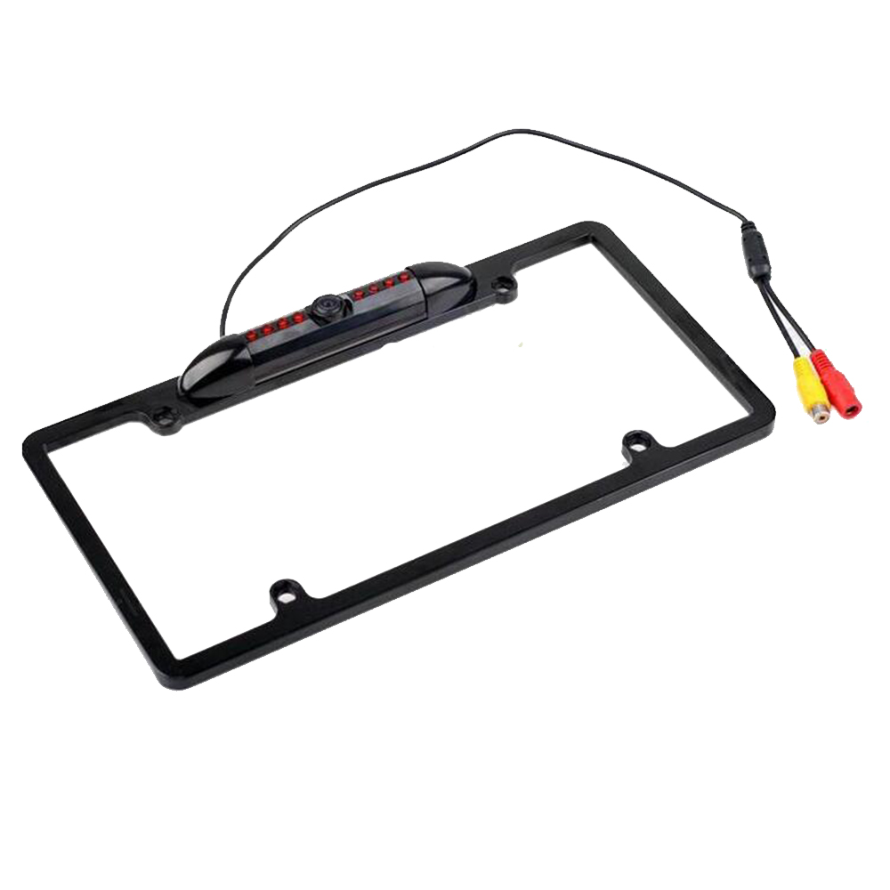 for USA Canada Car License Plate Frame Rear View Camera 8 IR Infrared light night vision Waterproof reverse parking camera