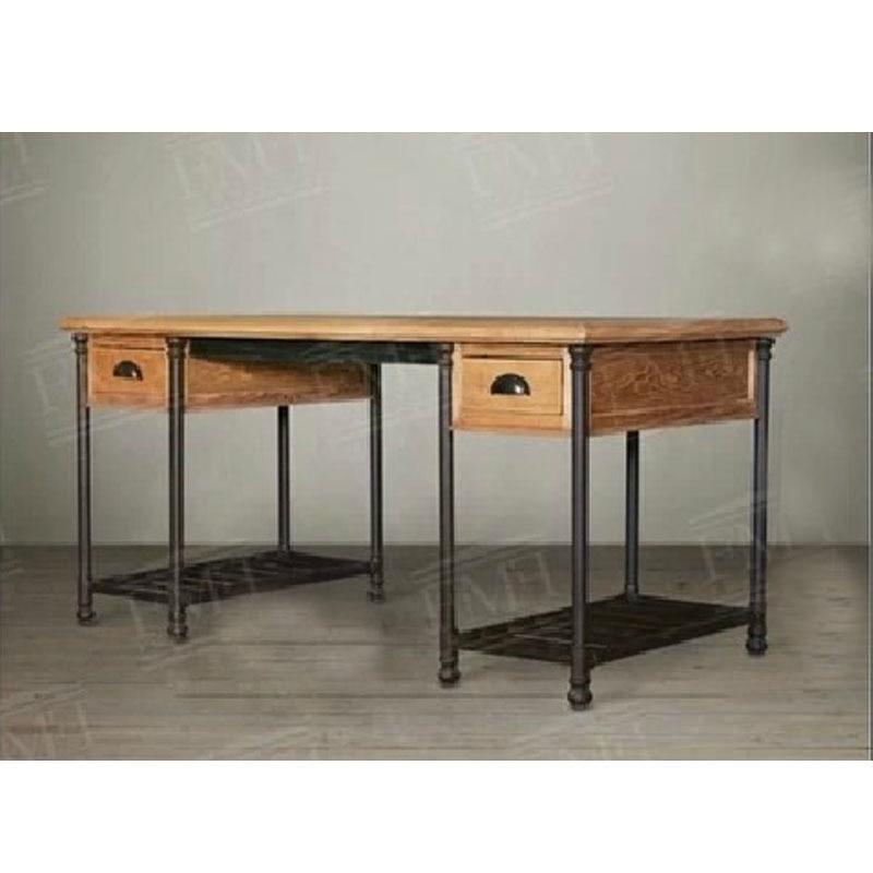 american village loft desk wood computer desk desk drawer industrial style wrought iron tables made american retro style industrial furniture desk