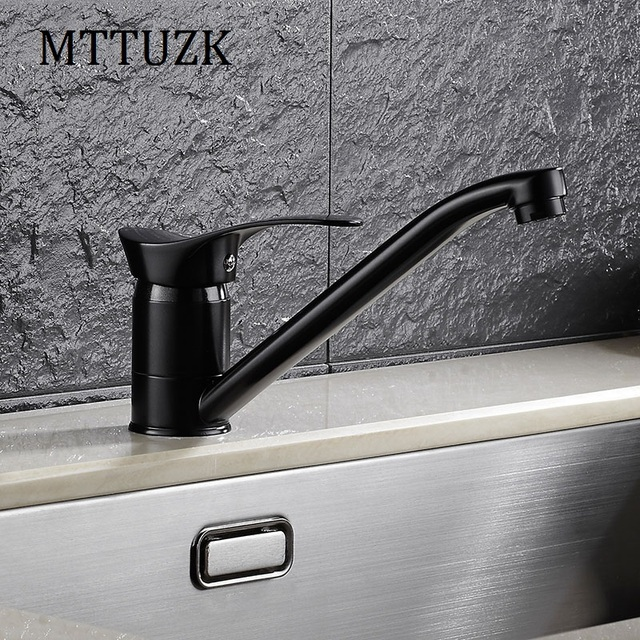 MTTUZK Free Shipping Deck Mounted Solid Brass Bathroom Faucet Single Handle  Single Hole Hot And Cold