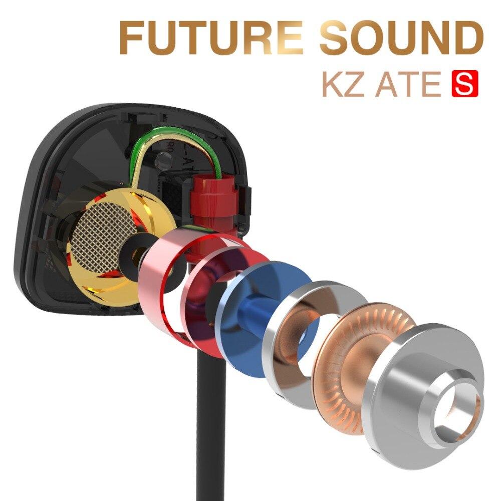 Новый оригинальный в ухо Наушники HiFi KZ ели-S стерео спортивные наушники Super Bass Шум Отмена наушники с микрофоном для мобильного телефона