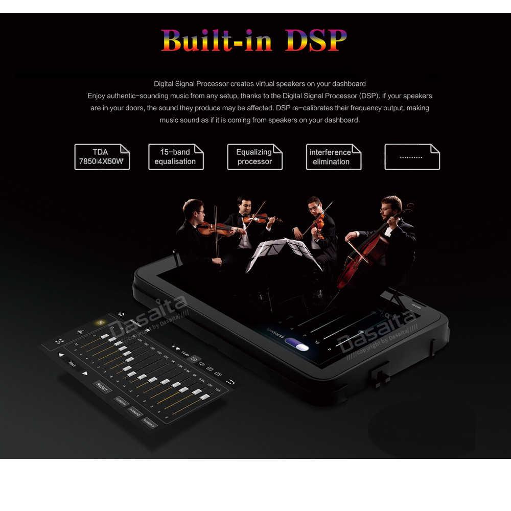 Android 9.0 Radio samochodowe 2 Din GPS Navi dla Toyota Tundra 2007-2013 Sequoia 2008-2018 PX6 DSP IPS HDMI 4Gb + 64Gb RDS WIFI RDS USB BT