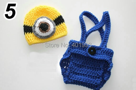 baby hat cover girl minion set despicable me inspired baby outfit hat and diaper