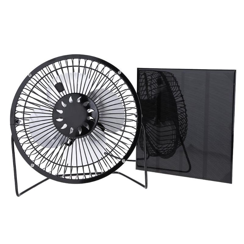 New Cooling Ventilation Fan with 6 Inch USB Port Solar Panel summer portable air cooler fan for Home Office Outdoor