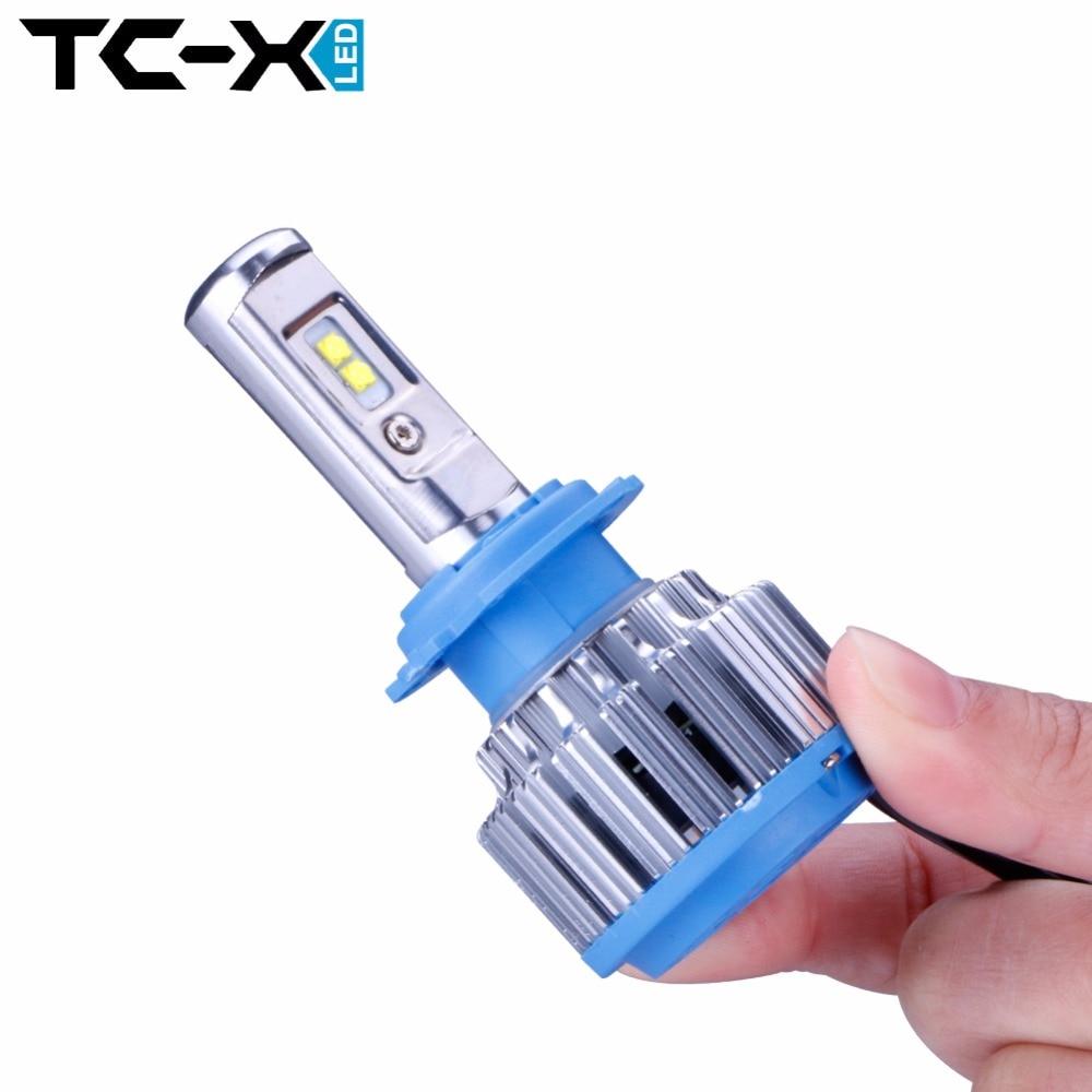 ФОТО TC-X 2 Bulbs/Set Guaranteed LED Car Light H7 H1 H3 H11 9006/HB4 9005/HB3 H27/880 9012 Driving Passing Beam Fog Light Replacement