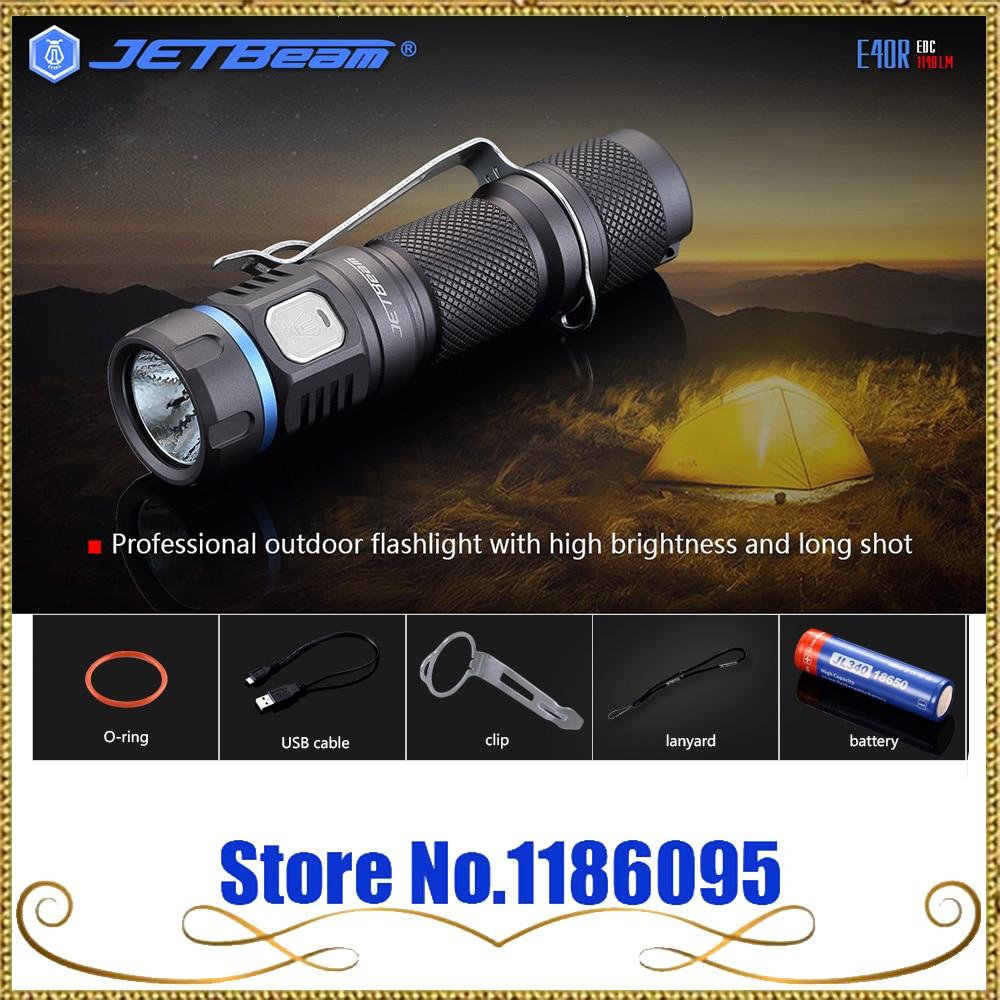 все цены на  2017 Newest Original JETBeam E40R SST40 N4 BC LED 1140 Lumens LED Flashlight with 18650 Li-ion 3400mah Battery for Self Defens  онлайн