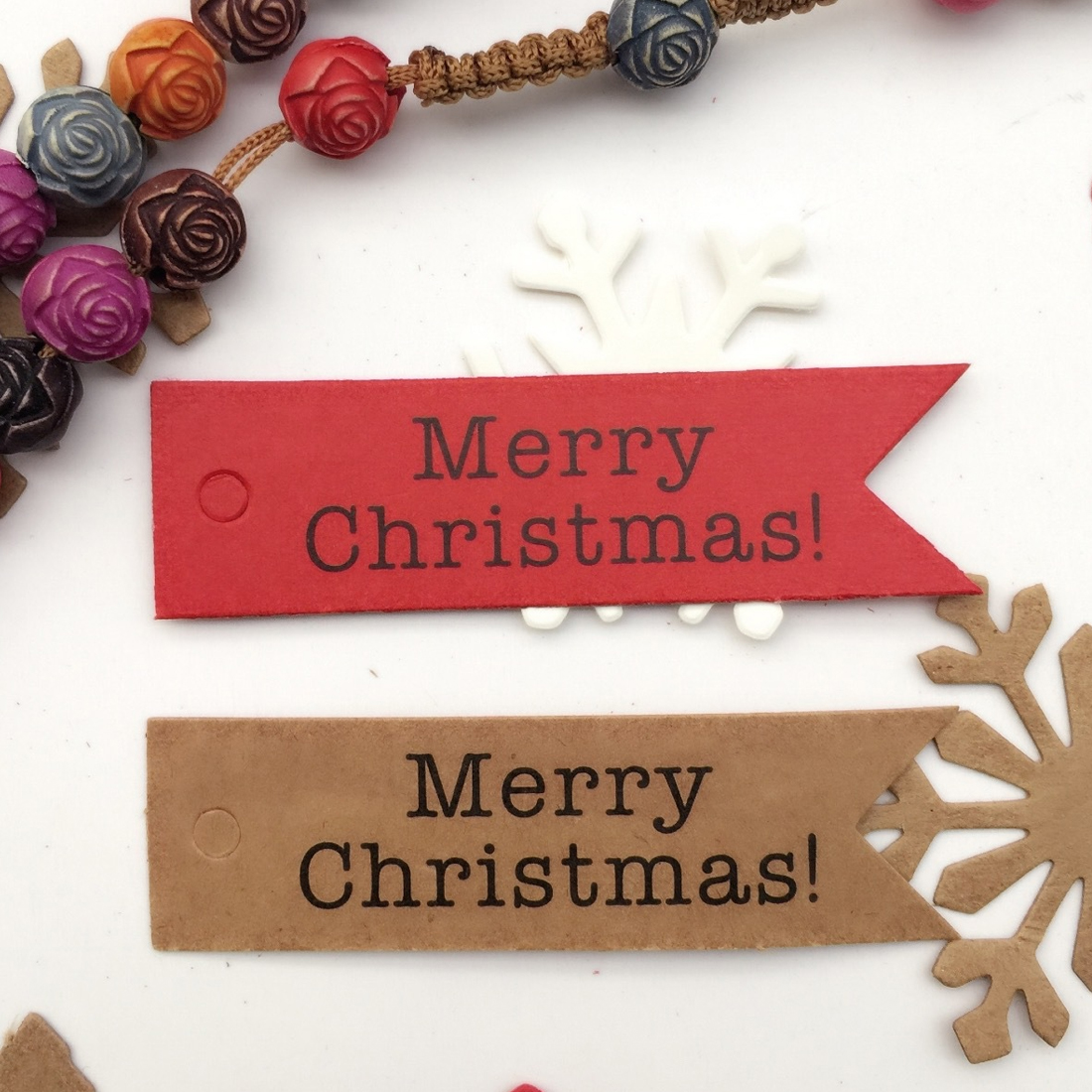 Decor Wholesale 100pcs Decorative Merry Christmas Paper Gift Tags Label Hanging Cards DIY Home Party Christmas Accessories