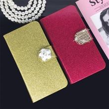 ФОТО Flip Phone Case Cover for ZTE Blade Z10 Z 10 A512  Rhinestone Cases Bling Fundas Diamond  Coque Glitter Capa Card Holder