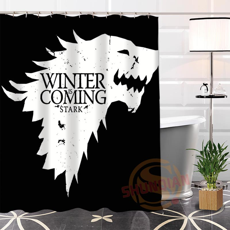 New Eco-friendly Custom Unique game of thrones Fabric Modern Shower Curtain bathroom Waterproof for yourself H0220-29