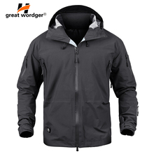 Men Tactical Waterproof jacket Hard Shell Breathable Outdoor Military Jacket Army Camouflage Climbing Hiking Hunt Coat