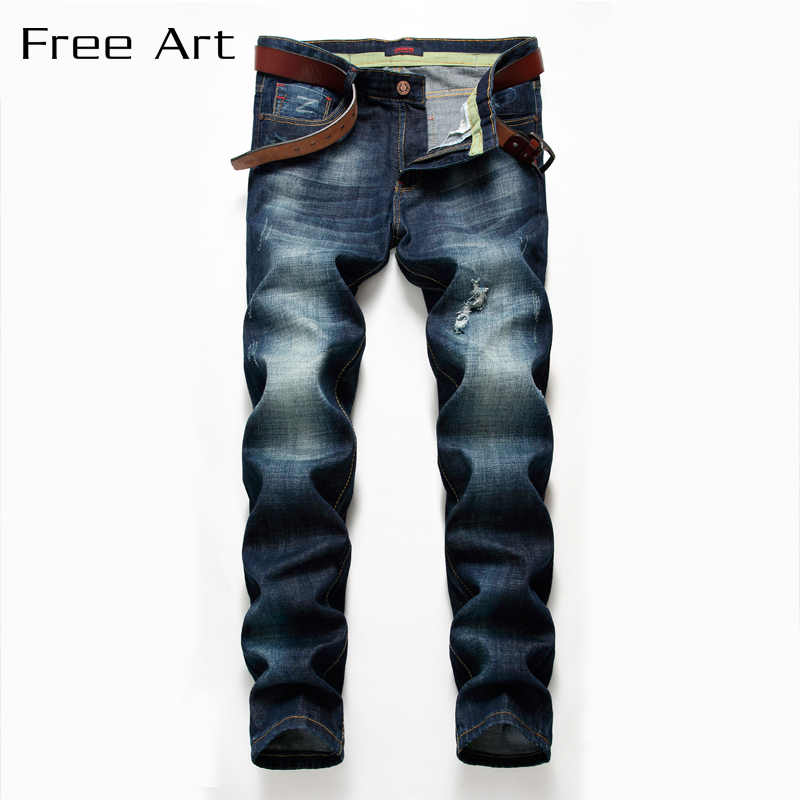 Jeans, Style Small Straight Stretch Cultivate Morality Trousers Are Of High Quality Cotton Solid Slim Full Length Medium New