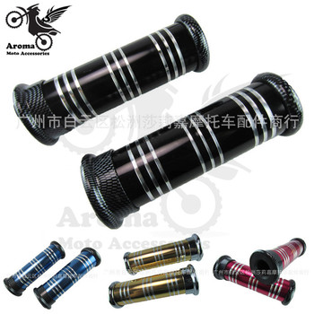 metal aluminum colorful universal part motorcycle handle grips for kawasaki honda suzuki yamaha Harley Davidson moto handlebar image