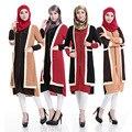 2015 moda two pieces conectar Ao Islamismo da menina camisa top de chiffon de manga longa blusas tops plus size para mulheres muçulmanas roupas