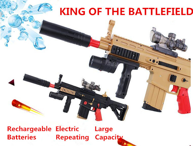 Electric Toy Gun Scar Paintball Soft Bullet Gun Rifle Assault Battlefield Snipe Weapon Hero Boy Adult Toy Gift free shipping