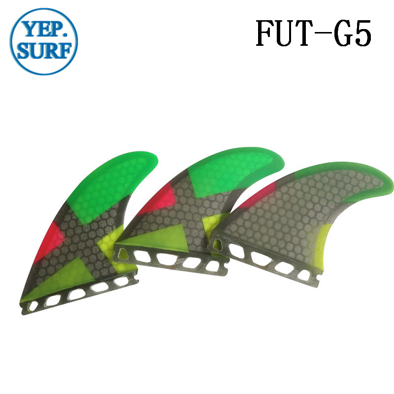 Future G5 Fins Honycom Fiber Surfboard Quilhas Future Tri Fin SUP - Vodní sporty
