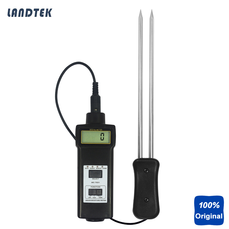 Portable Grains Moisture Tester Paddy Rice Moisture Gauge Corm Wheat  Moisture Meter MC7821Portable Grains Moisture Tester Paddy Rice Moisture Gauge Corm Wheat  Moisture Meter MC7821