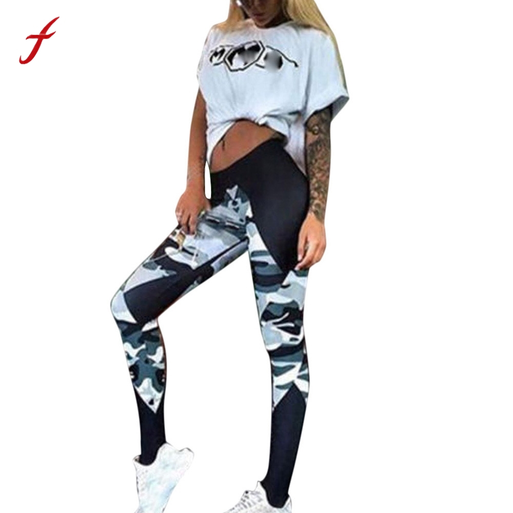 2017 New Sexy Leggings For Women Camouflage Fitness Womens Leggings Comprehension Pants Women Fitness Workout Pencil Pants