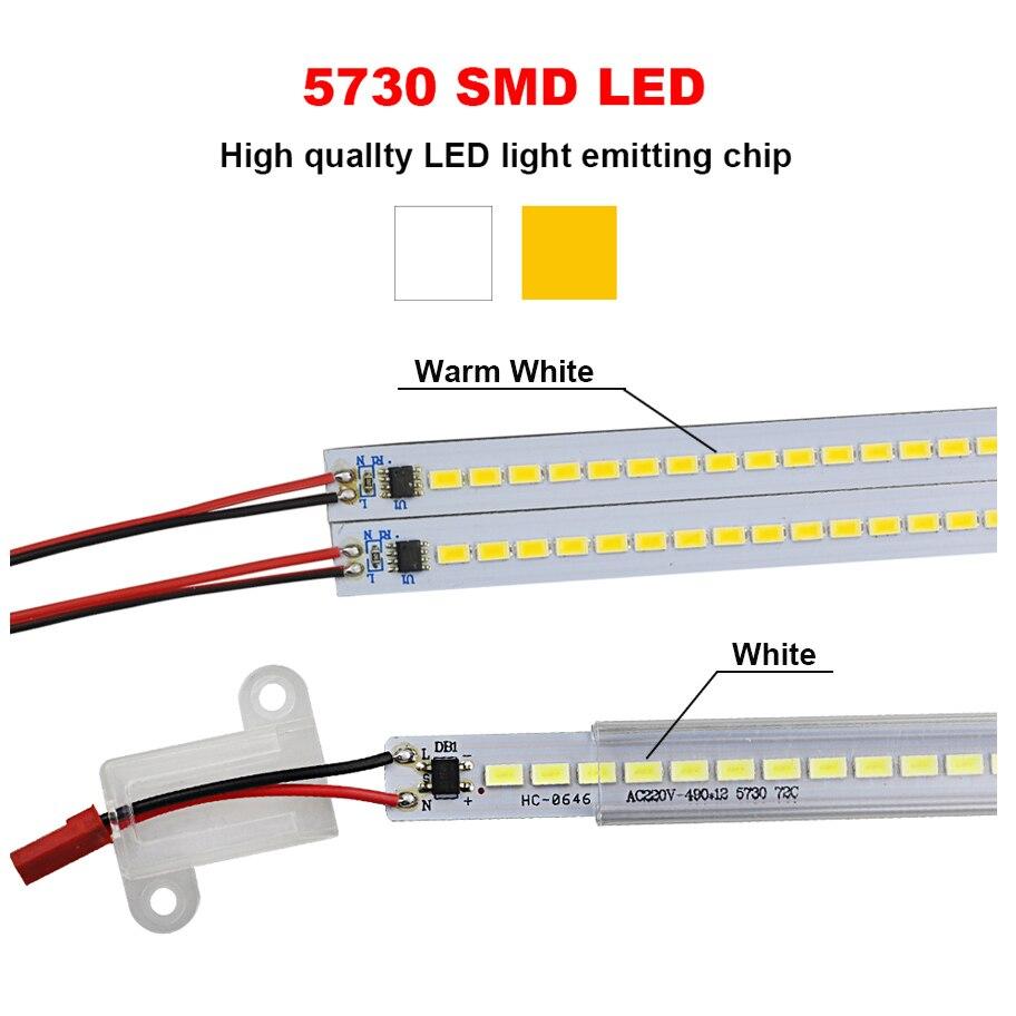 5630/5730 Dimmable LED Жарық жолағы 220V 50CM 72LEDs High - LED Жарықтандыру - фото 2