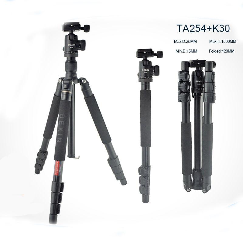 Profissional Tripe Qualidade Bola Tripod Aluminum Tripod for DSLR Camera / Portable Monopod Stand