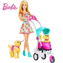 Original Brand Barbie With Pet Doll Princess Assortment Girl Fashion Fashionista Doll Toys for Girls Children Birthday Gift free shipping christmas gift birthday gift 2016 fashion doll with clothes and shoes accessories for barbie doll toys for girls