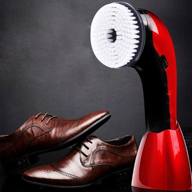 แบบพกพาไฟฟ้าอัตโนมัติรองเท้าแปรง Shine ขัด 2 Ways Power Supply