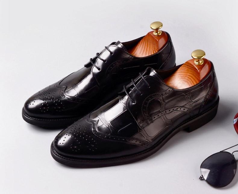 fd97312f Formales La Brogue Zapatos Genuino Moda Hombres Rojo Encaje Qyfcioufu  marrón Marrón Vino Tinto Negro Cuero ...
