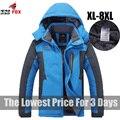 Король Размер 5XL, 6XL, 7XL, 8XL 9XL теплая Зима Куртка Мужчины флис утолщаются водонепроницаемый хлопок вниз парка мужчины куртка пальто бренд одежды