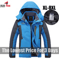 King Size 5XL, 6XL, 7XL, 8XL 9XL Homens Jaqueta de Inverno quente velo engrosse parka de algodão para baixo à prova d' água casacos homens jaqueta de roupas de marca