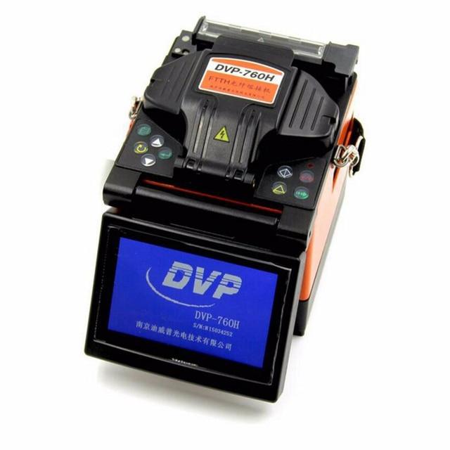 DVP İngilizce menü Fiber füzyon yapıştırma makinesi DVP 760H Fiber optik birleştirme aleti DVP760H 760 FTTH optik fiber füzyon kaynak