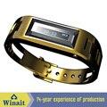 100 Horas de Espera de Acero Reloj Bluetooth Pulsera Vibrante de Bluetooth con Pantalla LCD Muestra Entrante Llamada Telefónica y de IDENTIFICACIÓN de Llamadas