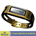 100 Hours Standby Steel VIbrating Bluetooth Watch Bluetooth Bracelet with LCD Display Shows Incoming Phone Call & Caller ID