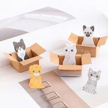 Creative Cute 3D Kawaii Cat Dog Box Stickers Student Gift Stationery Office School Supplies Memo Pad Scrapbooking 1 Pcs