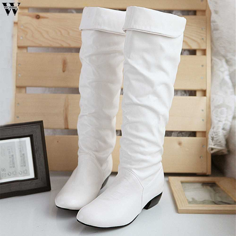 2018 Slim รองเท้าเซ็กซี่เข่าสูง Suede รองเท้าบู๊ทหิมะผู้หญิงแฟชั่นฤดูหนาวต้นขาสูงรองเท้ารองเท้าผู้หญิง Nov28