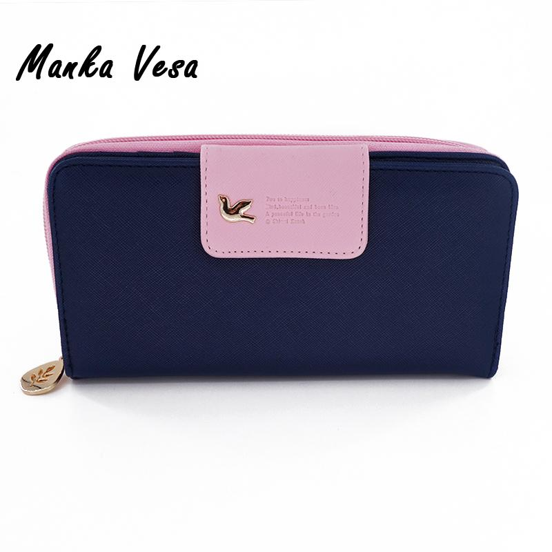 Manka Vesa Candy Color Women Wallet Female Coin Purse Brand PU Leather Long Leather Faux Zipper Clutch Lady Handbag Card Holder кафка ф превращение die verwandlung 4 уровень
