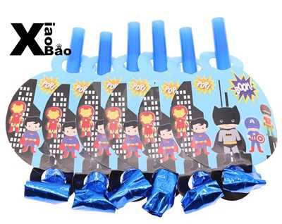 Lucu Batman Kartun Kertas Piring Piring Piala Banner Bendera Serbet Penutup Jerami Puncak Kue Tas Kotak Mainan Nikmat Pesta Dekorasi hadiah