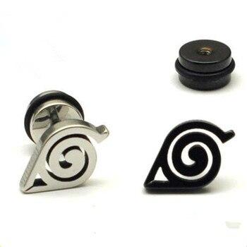 Аниме серьги Наруто с логотипом